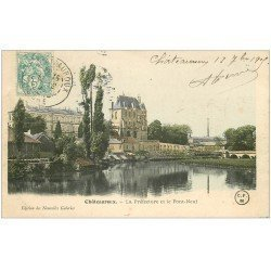 carte postale ancienne 36 CHATEAUROUX. Préfecture Pont-Neuf 1905