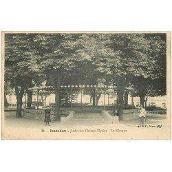 carte postale ancienne 36 ISSOUDUN. Kiosque Jardin Champs-Elysées
