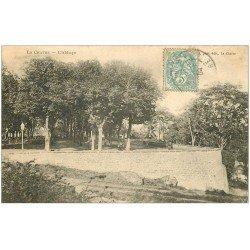 carte postale ancienne 36 LA CHATRE. Abbaye 1904 (carte molle)...