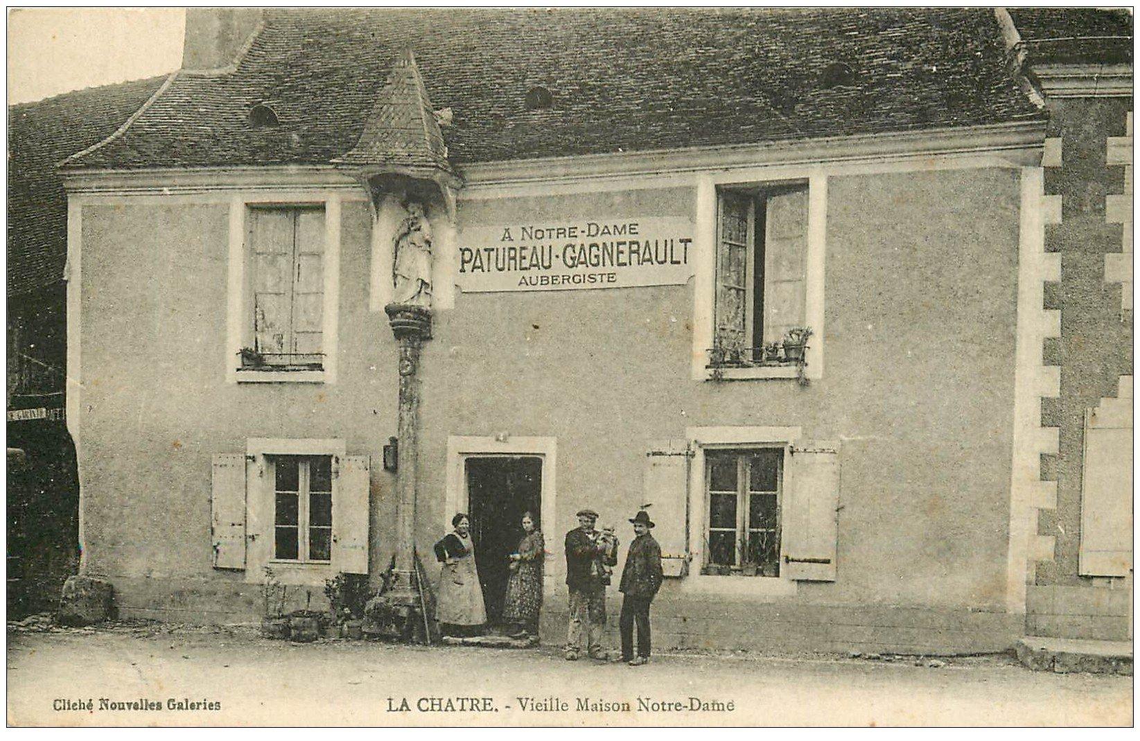 carte postale ancienne 36 LA CHATRE. Aubergiste Maison Notre-Dame