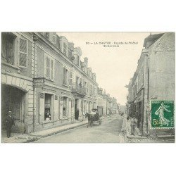 carte postale ancienne 36 LA CHATRE. Hôtel Garage Saint-Germain 1908