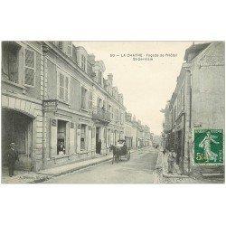 carte postale ancienne 36 LA CHATRE. Hôtel Garage Saint-Germain 1908