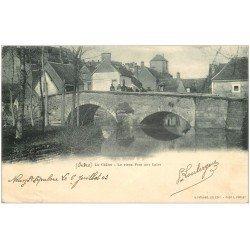 carte postale ancienne 36 LA CHATRE. Pont aux Laies 1903