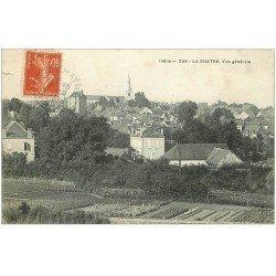 carte postale ancienne 36 LA CHATRE. Vue générale 1911 (coupure 1cm)...