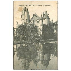 carte postale ancienne 36 SAINT-GAULTIER. Château