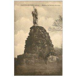 carte postale ancienne 36 SAINT-SEVERE. Statue 1925