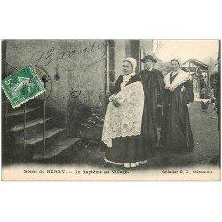 carte postale ancienne 36 Scènes du BERRY. Baptême au Village 1909