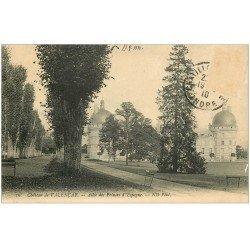 carte postale ancienne 36 VALENCAY. Allée Prince Espagne 1910. Timbre manquant