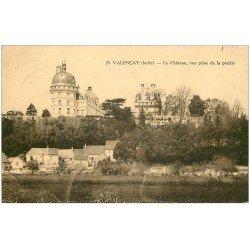 carte postale ancienne 36 VALENCAY. Château 1929. Tampon Mairie De Veigne