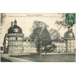 carte postale ancienne 36 VALENCAY. Château par Delorme 1912