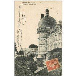carte postale ancienne 36 VALENCAY. Château. Pont-Levis 1915