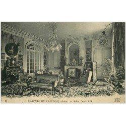 carte postale ancienne 36 VALENCAY. Château. Salon Louis XVI