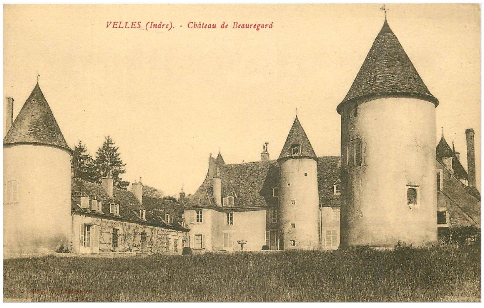 carte postale ancienne 36 VELLES. Château Beauregard