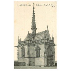 carte postale ancienne 37 AMBOISE. Chapelle Saint-Hubert
