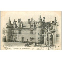 carte postale ancienne 37 AMBOISE. Château façade 1902