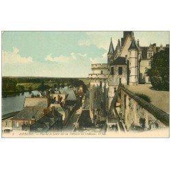 carte postale ancienne 37 AMBOISE. Château Terrasse 1918