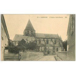 carte postale ancienne 37 AMBOISE. Eglise Saint-Denis