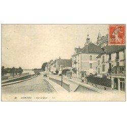 carte postale ancienne 37 AMBOISE. Sur le Quai 1911 Les Charmettes...
