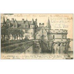 carte postale ancienne 37 AMBOISE. Tour des Minimes 1919