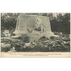 carte postale ancienne 37 AVON. Monument Soldats Belges vers 1916