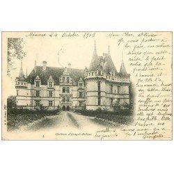 carte postale ancienne 37 AZAY-LE-RIDEAU. Château 1903