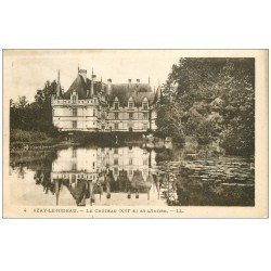 carte postale ancienne 37 AZAY-LE-RIDEAU. Château 1924 LL 4