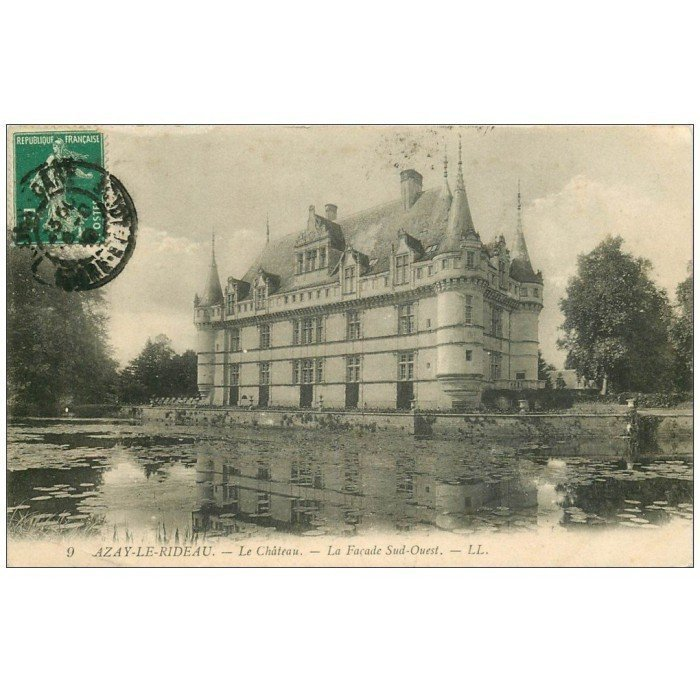 37 azay le rideau ch teau fa ade 1910 ll 9. Black Bedroom Furniture Sets. Home Design Ideas