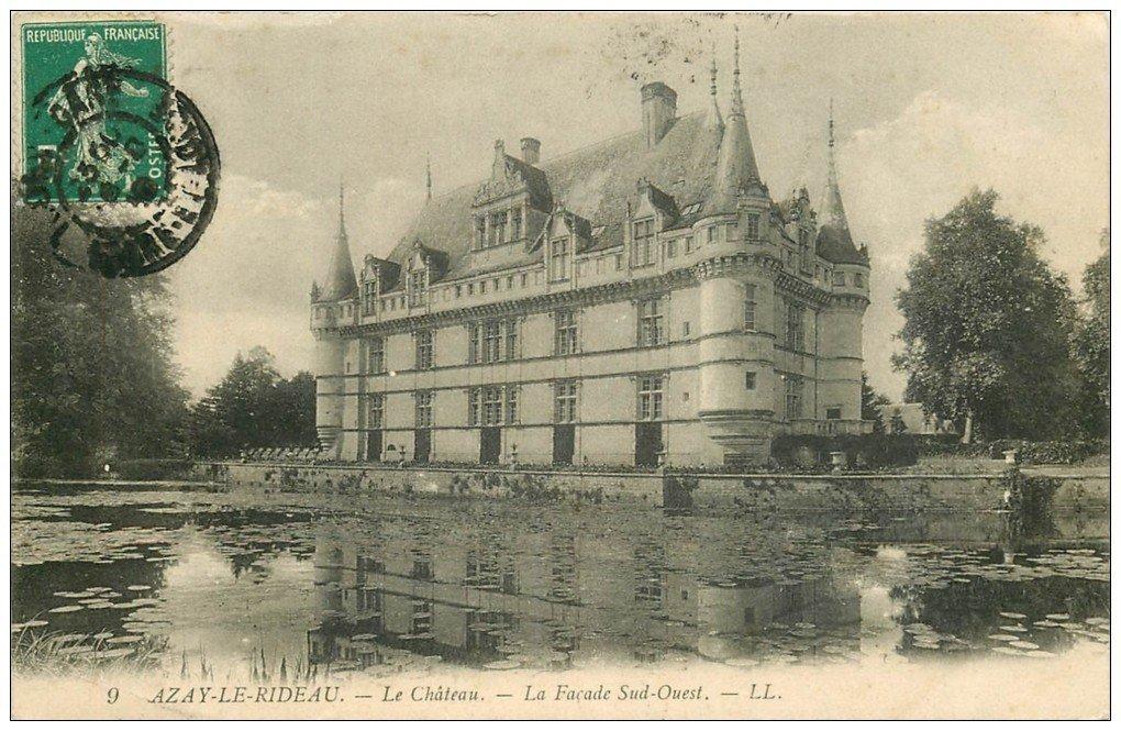 37 azay le rideau ch 226 teau fa 231 ade 1910 ll 9