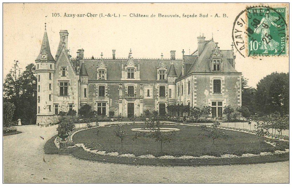 37 Azay Sur Cher Chateau Beauvais 1925