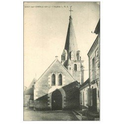 carte postale ancienne 37 AZAY-SUR-CHER. Eglise et Place n°2