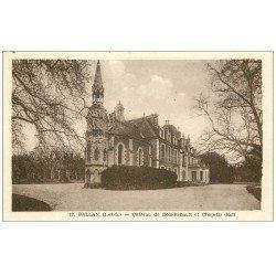 carte postale ancienne 37 BALLAN. Château Bois-Renault Chapelle