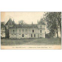 carte postale ancienne 37 BALLAN. Château de la Touche (blanc coin gauche)....