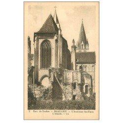 carte postale ancienne 37 BEAULIEU. Abside Basilique