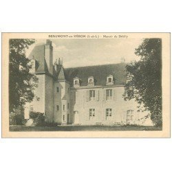 carte postale ancienne 37 BEAUMONT-EN-VERON. Manoir Détilly