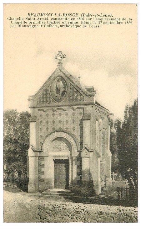 carte postale ancienne 37 BEAUMONT-LA-RONCE. Chapelle Saint-Armel