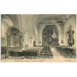 carte postale ancienne 37 BENAIS. Eglise