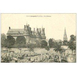carte postale ancienne 37 LANGEAIS. Château et Carrière de pierres