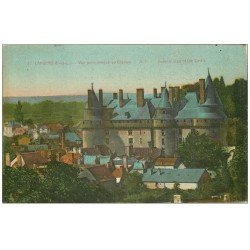 carte postale ancienne 37 LANGEAIS. Château vue panoramique