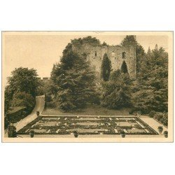 carte postale ancienne 37 LANGEAIS. Château. Ruines Jardin