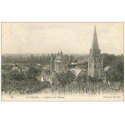 carte postale ancienne 37 LANGEAIS. Eglise et Château