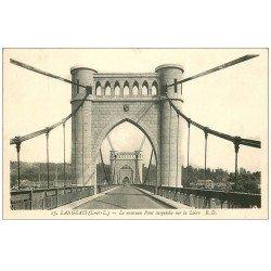 carte postale ancienne 37 LANGEAIS. Pont Suspendu 1937