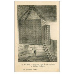 carte postale ancienne 37 LOCHES. Cage Prison Cardinal La Balue