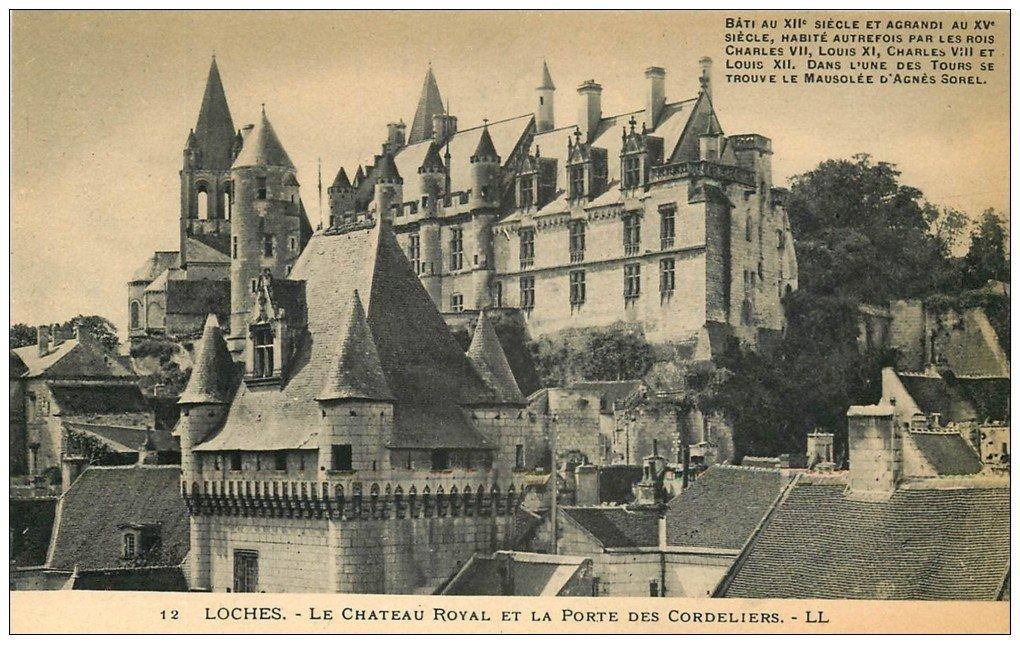 carte postale ancienne 37 LOCHES. Château Porte Cordeliers