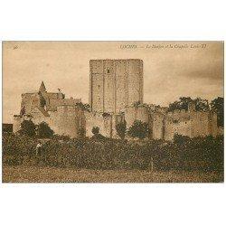 carte postale ancienne 37 LOCHES. Donjon Chapelle Louis XI