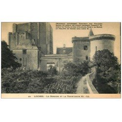 carte postale ancienne 37 LOCHES. Donjon Tour Louis XI