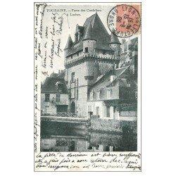 carte postale ancienne 37 LOCHES. La Porte des Cordeliers 1906