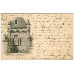 carte postale ancienne 37 LOCHES. Porte Cordeliers 1902