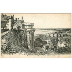 carte postale ancienne 37 LOCHES. Terrasse du Château