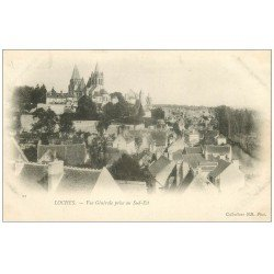 carte postale ancienne 37 LOCHES. Vue vers 1900