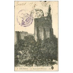 carte postale ancienne 37 MONTBAZON. Donjon 1917